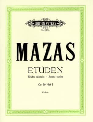 Etudes Spéciales op. 36 N° 1 MAZAS Partition Violon - laflutedepan