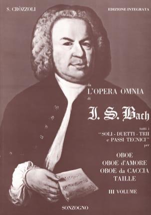 Da l'opera omnia di J. S. Bach Volume 3 - Oboe BACH laflutedepan