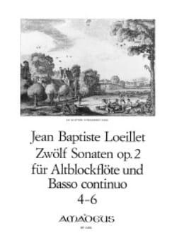 12 Sonaten op. 2 - n ° 4-6 - Altblockflöte u. Bc LOEILLET laflutedepan