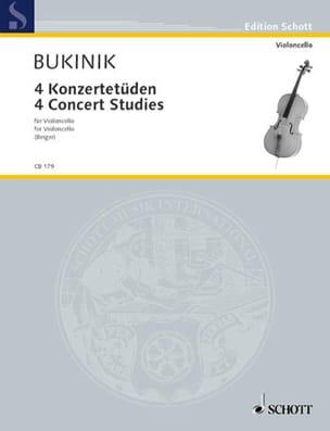 4 Konzertetüden Mikhail Bukinik Partition Violoncelle - laflutedepan