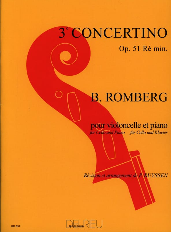 Concertino n° 3 op. 51 ré mineur - ROMBERG - laflutedepan.com