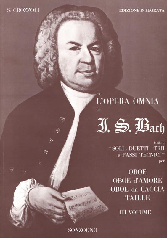 Da l'opera omnia di J. S. Bach Volume 3 - Oboe - laflutedepan.com