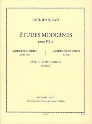 Etudes Modernes - Flûte Paul Jeanjean Partition laflutedepan