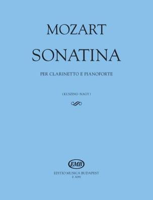 Sonatine - Clarinette et Piano MOZART Partition laflutedepan