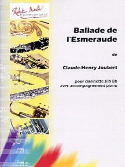 Ballade de l'Esmeraude Claude-Henry Joubert Partition laflutedepan