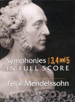 Symphonies n° 3, 4 et 5 - Conducteur MENDELSSOHN laflutedepan