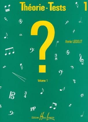 Théorie-Tests - Volume 1 - Annie Ledout - Partition - laflutedepan.com