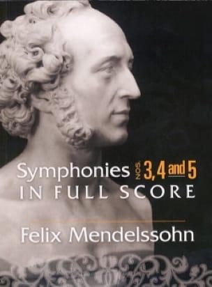 Symphonies n° 3, 4 et 5 - Conducteur - MENDELSSOHN - laflutedepan.com
