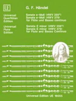 Sonaten e-moll HWV 359b u. HWV 379 - Flöte und Bc - laflutedepan.com