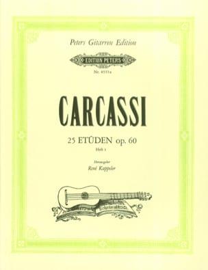 25 Etüden op. 60 -Heft1 Matteo Carcassi Partition laflutedepan