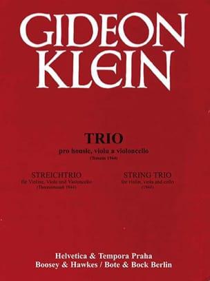 Streichtrio 1944 -Partitur + Stimmen Gideon Klein laflutedepan