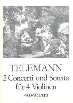 2 Concerti Und Sonata Twv40:201,202,203 TELEMANN laflutedepan