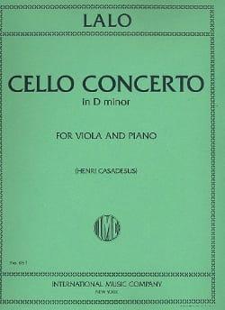Concerto Violoncelle en ré mineur - Alto LALO Partition laflutedepan