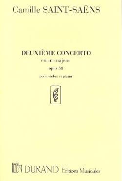 Concerto Violon N° 2, opus 58 SAINT-SAËNS Partition laflutedepan