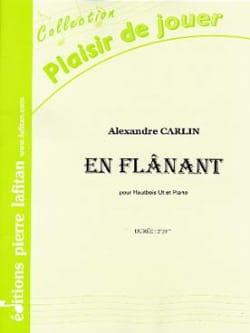 En Flânant - Hautbois et piano Alexandre Carlin Partition laflutedepan