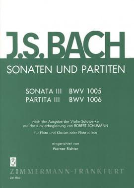 Sonates et Partitas Volume 3 Johann Sebastian Bach laflutedepan