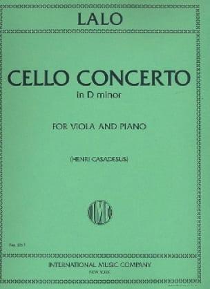 Concerto Violoncelle en ré mineur - Alto - LALO - laflutedepan.com