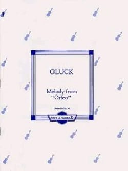 Melody from Orfeo GLUCK Partition Alto - laflutedepan