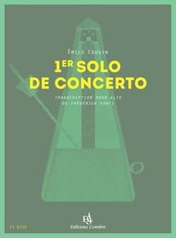 1er Solo de concerto Emile Cousin Partition Alto - laflutedepan