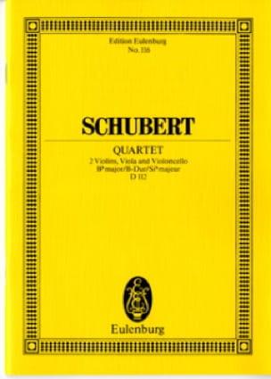 Quatuor à Cordes en Sib M., Op. 168 D 112 - laflutedepan.com