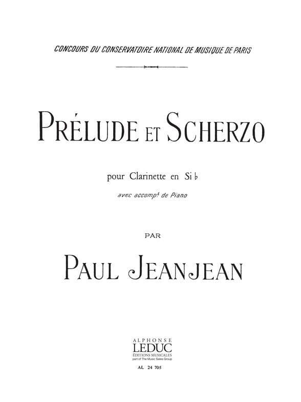 Prelude et Scherzo - Paul Jeanjean - Partition - laflutedepan.com