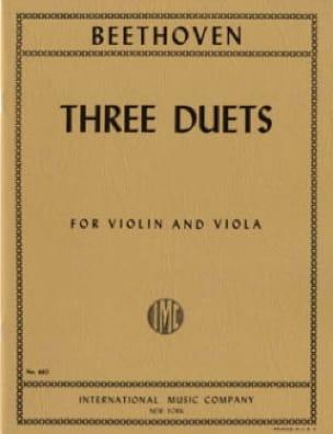 3 Duets - Violin viola - BEETHOVEN - Partition - 0 - laflutedepan.com