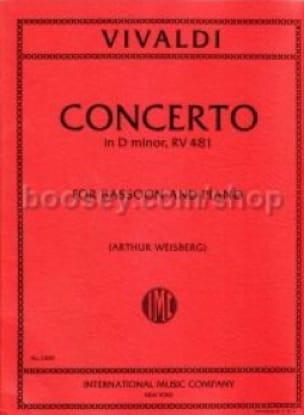 Concerto F. 8 n° 5 RV 481 in D minor - VIVALDI - laflutedepan.com