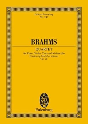 Klavier-Quartett g-moll BRAHMS Partition Petit format - laflutedepan