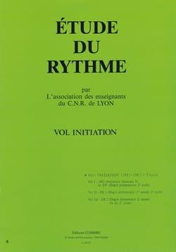 Etude du rythme - Volume Initiation de Lyon C.N.R. laflutedepan