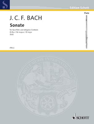 Sonate D-Dur - Flöte Violine u. obligates Cembalo Klavier laflutedepan
