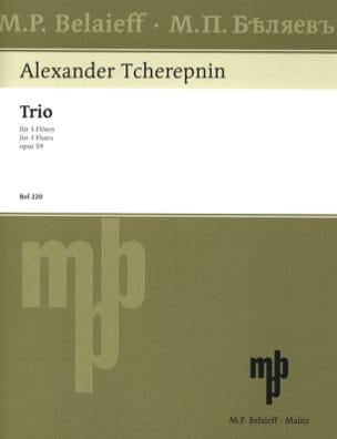Trio op. 59 - 3 Flöten Alexander Tcherepnine Partition laflutedepan