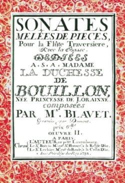 Sonates Michel Blavet Partition Flûte traversière - laflutedepan