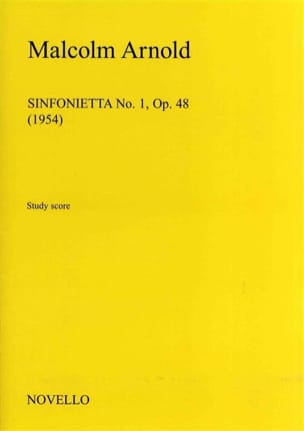 Malcolm Arnold - Sinfonietta No. 1 Op. 48 1954 - Partition - di-arezzo.es