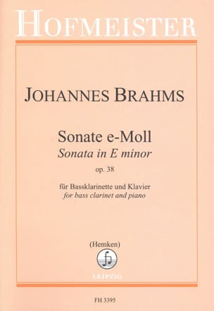 BRAHMS - Sonata in E Minor Op. 38 - Partition - di-arezzo.com