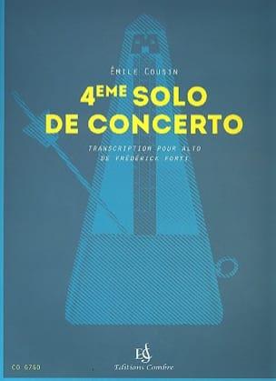 4ème Solo de concerto Emile Cousin Partition Alto - laflutedepan