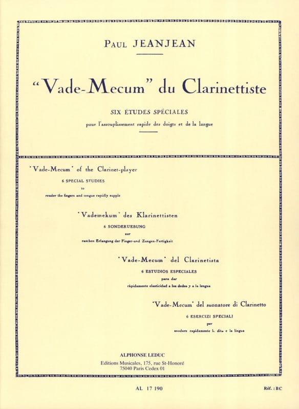 Vade Mecum du Clarinettiste - Paul Jeanjean - laflutedepan.com