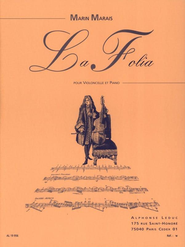 La Folia - Marin Marais - Partition - Violoncelle - laflutedepan.com