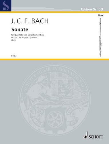 Sonate D-Dur - Flöte Violine u. obligates Cembalo Klavier - laflutedepan.com