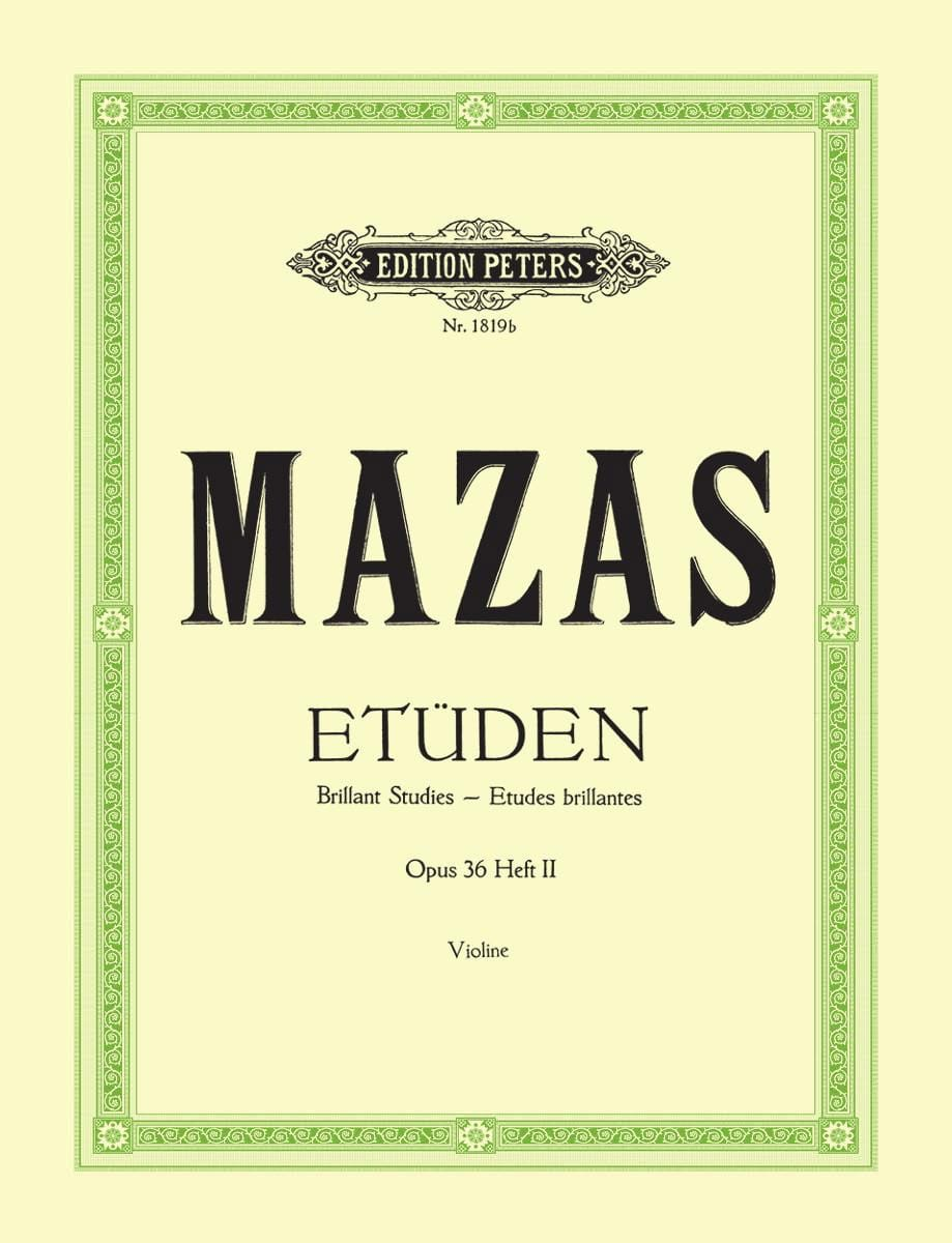 Etudes brillantes op. 36 n° 2 - MAZAS - Partition - laflutedepan.com