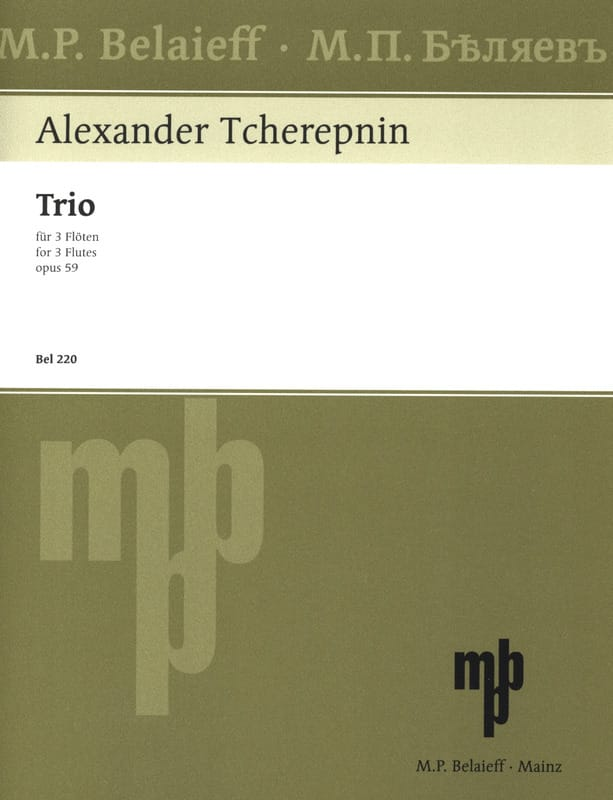 Trio op. 59 - 3 Flöten - Alexander Tcherepnine - laflutedepan.com