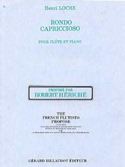 Rondo capriccioso - Henri Loche - Partition - laflutedepan.com