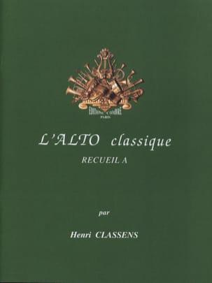 L'alto Classique Volume A CLASSENS Partition Alto - laflutedepan