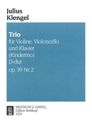 Kindertrio D-Dur op. 39 n° 2 Julius Klengel Partition laflutedepan