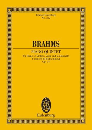 Klavier-Quintett F-Moll, Op. 34 - BRAHMS - laflutedepan.com