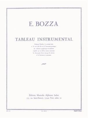 Tableau instrumental Eugène Bozza Partition Solfèges - laflutedepan