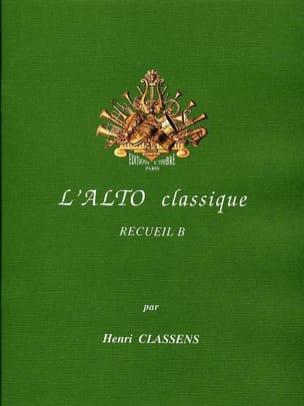 L'Alto classique - Volume B CLASSENS Partition Alto - laflutedepan