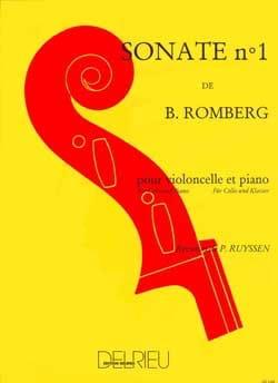 Sonate n° 1 en Si bémol majeur ROMBERG Partition laflutedepan