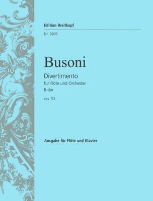 Divertimento B-Dur op. 52 - Flöte piano BUSONI Partition laflutedepan