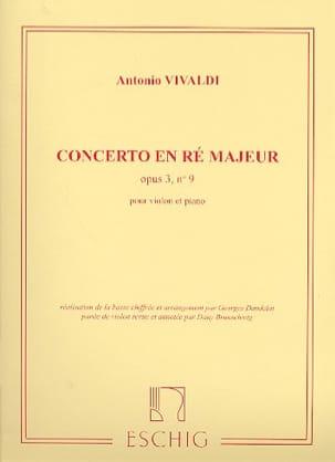 Concerto ré majeur op. 3 n° 9 VIVALDI Partition Violon - laflutedepan