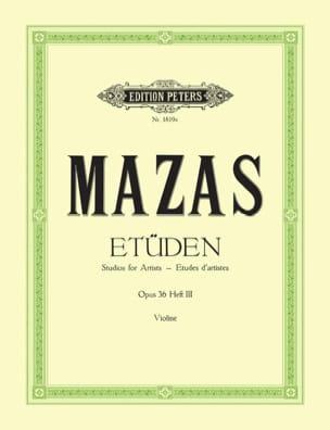 Etudes d'artistes op. 36 n° 3 MAZAS Partition Violon - laflutedepan